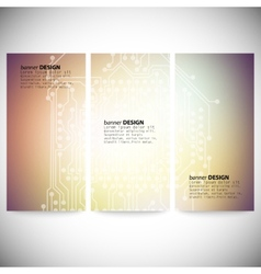 Set of vertical banners Microchip backgrounds vector image vector image