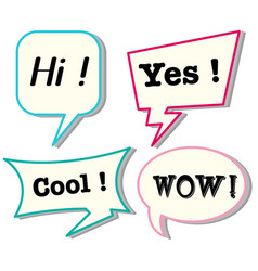 speech bubbles with different expressions vector image vector image