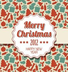 Vintage retro Christmas label vector image