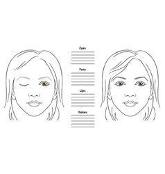 woman face chart vector image
