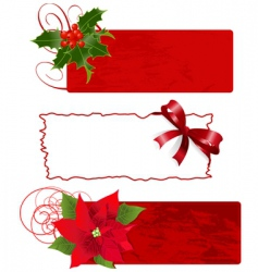 Christmas banners frames vector image vector image