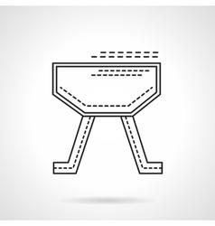 Gymnastics equipment flat line design icon vector image vector image