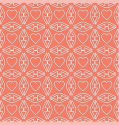 heart white line valentine day design pattern on vector image