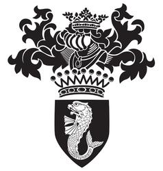 heraldic silhouette No27 vector image vector image