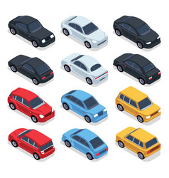 isometric 3d cars transportation technology vector image vector image