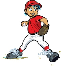 Boy Baseball Pitcher vector image vector image