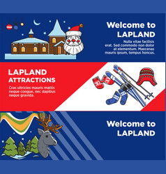 lapland tourist travel and famous tourist culture vector image