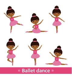set african dancers vector image