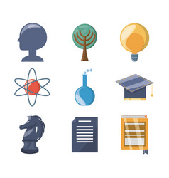 set knowledge education to learn idea vector image vector image