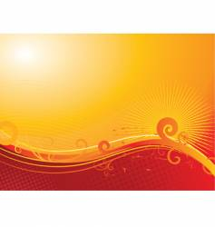 sunny floral background vector image vector image