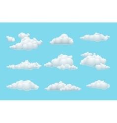 cartoon cloud set vector image vector image