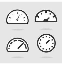 Dial panel vector image