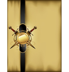 ornate frame with arms vector image vector image