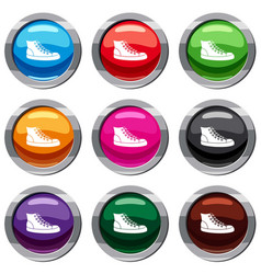 sneakers set 9 collection vector image vector image