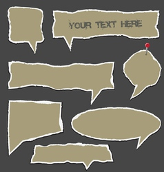 Torn paper speech bubbles vector image vector image