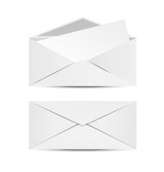 Two white envelopes vector image