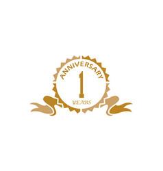 1 years ribbon anniversary vector image
