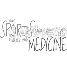 A career in sports medicine text word cloud vector