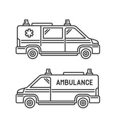 ambulance emergency car set on white background vector image