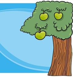apple tree cartoon vector image