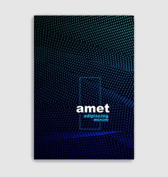 art linear minimalistic trendy brochure design vector image