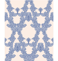baroque pattern background rich imperial vector image