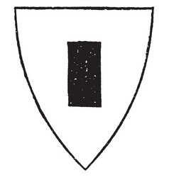 Billet shield is a right-angled figure a little vector