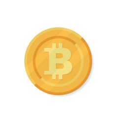 bitcoin gold with bitcoin symbol isolated on vector image