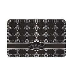 Black Decorative Card with Silver Pattern vector