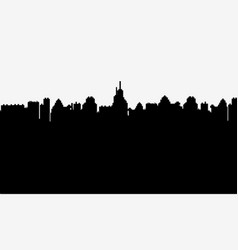 black silhouette of a city on white background vector image