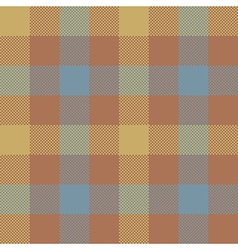 Brown check plaid seamless pattern vector image