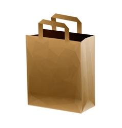Brown shopping bag vector