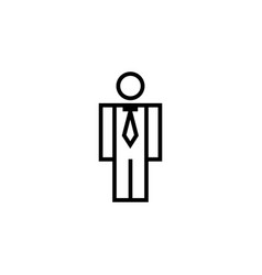 business man icon graphic design template vector image