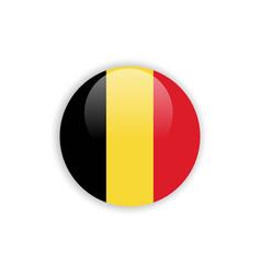 button belgium flag template design vector image