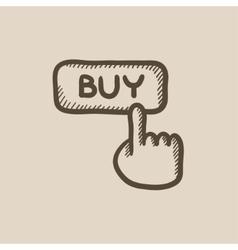 Buy button sketch icon vector