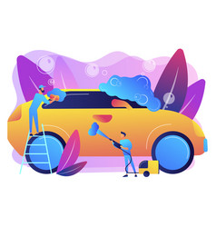 car wash service concept vector image