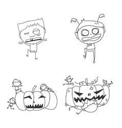 cartoon happy halloween vector image