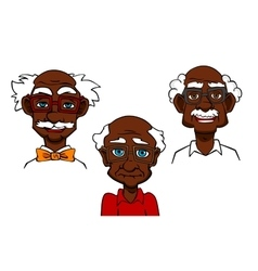 Cartoon joyful seniors and old men vector image