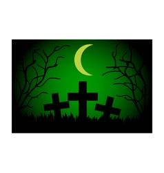 Cemetery at night vector