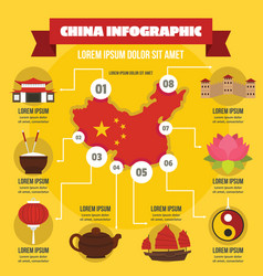 China infographic concept flat style vector