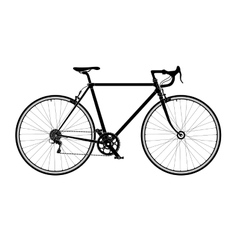 Classic mens town road bike silhouette detailed vector