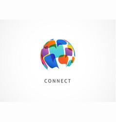communication connect world concept design vector image