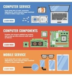 Computer Service Banner Set vector