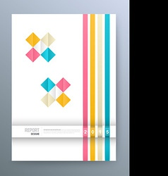 Cover magazine square colorful template design vector