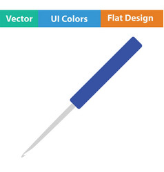 Crochet hook icon vector