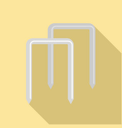 Croquet wicket icon flat style vector
