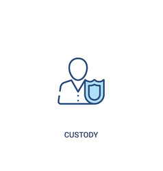 Custody concept 2 colored icon simple line vector