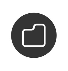 document icon in modern style for web site and vector image