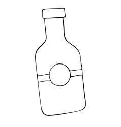Doodle bottle hand drawn vector