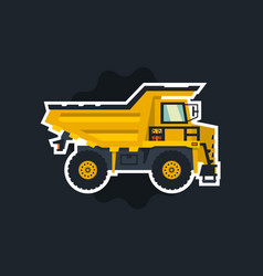 dumper big car yellow truck the object circled vector image
